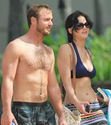 Jennifer Lawrence - wearing a bikini top at a beach in Hawaii 11/22/12