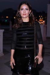 Salma Hayek - Sexy Hose & Top @ Pinault Party At The 56th International Art Exhibition in Venice (5/6/15)